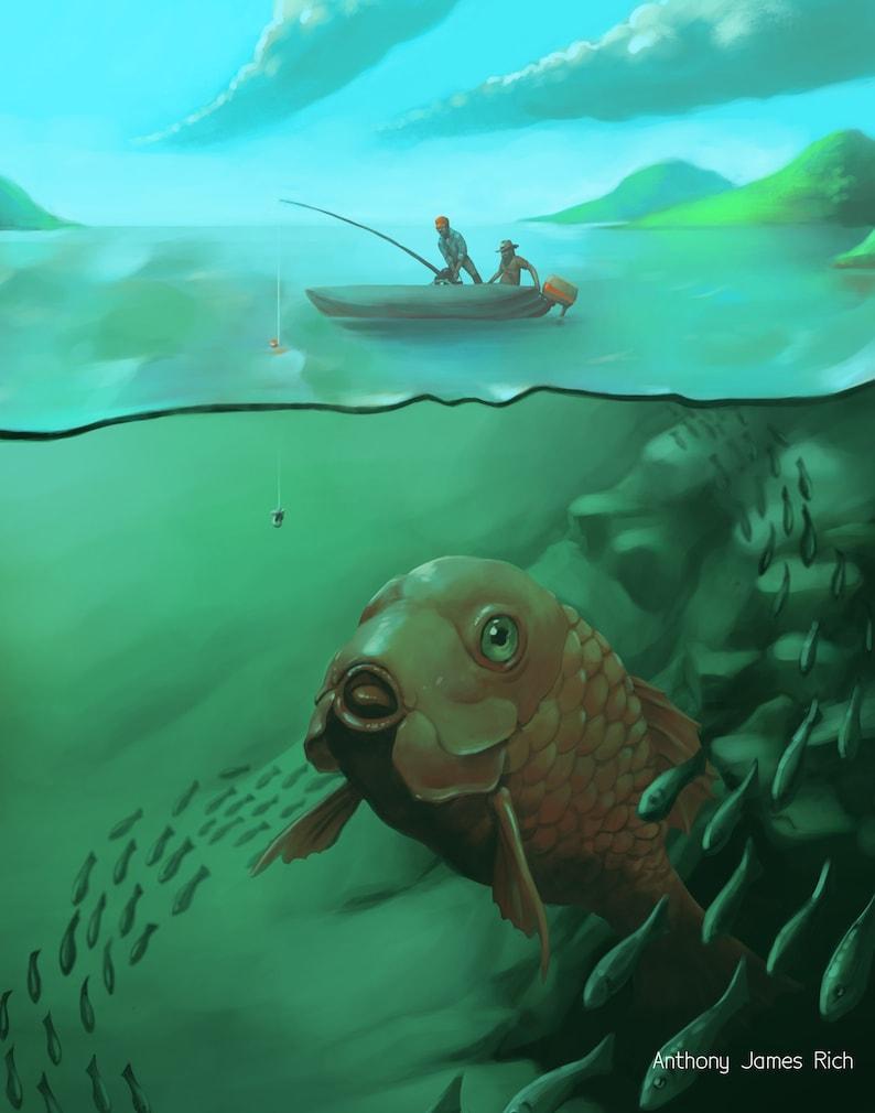 Big Fish  Art Print image 0
