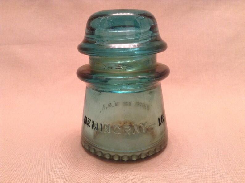 d4c0868a5289 Antique AT T Hemingray-16 Aqua Glass Insulator Made in the