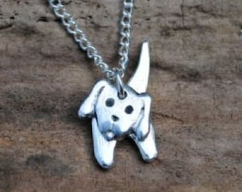 3D Puppy Dog Pewter Pendant
