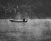 Landscape Photography, Nature Photography, Fishing, River Photo, Black and White Photography