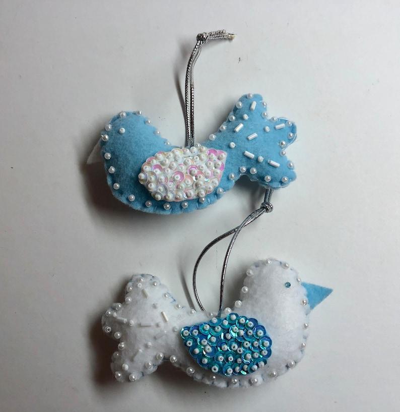 Hand made Felt Dove Of Peace Christmas Decoration