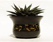 Vintage Brown Planter Cactus Succulent Container Small Plant Holder, California USA Pottery Franciscan Ceramics Jamoca Sugar Bowl, no lid 4 quot