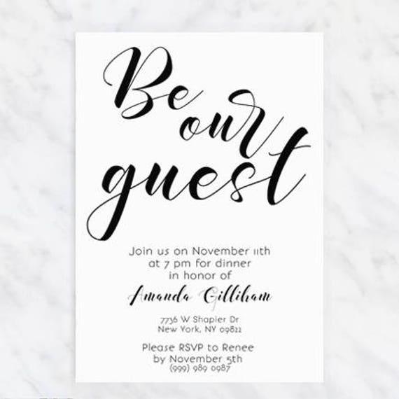 printable dinner party invitations minimal birthday etsy