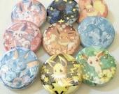 Eeveelutions Pokemon Button set