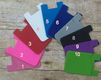 Cell Phone Pocket, Credit Card Holder, Cell Phone Accessory, Cell Phone Card Holder
