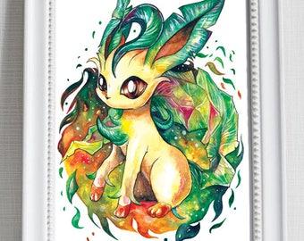 Pokemon Print ~ Leafeon