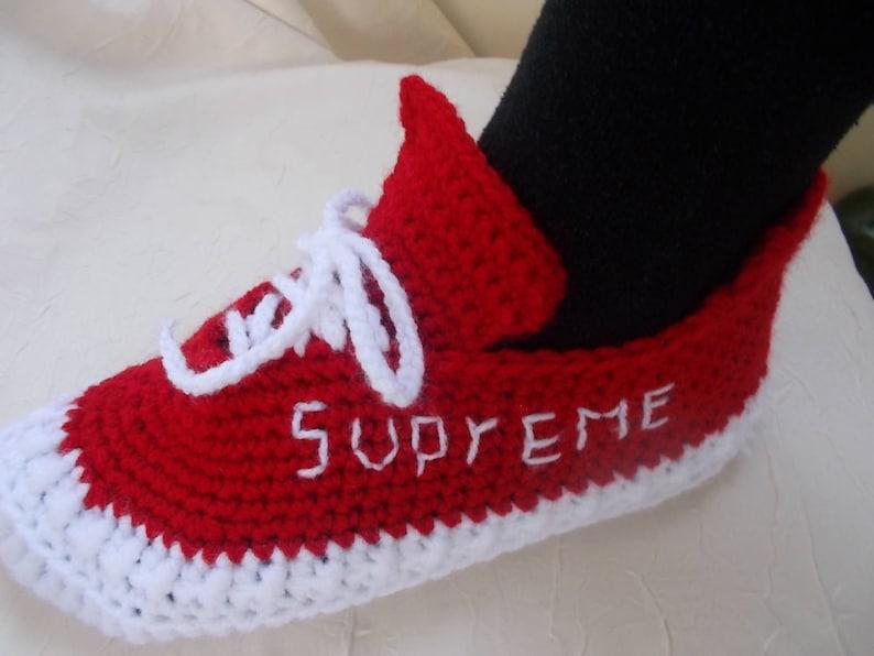 reputable site e0c15 e0d20 The Yeezy Boost 350 V 2 , Yeezy 350 V2 Boost, crochet slippers, handmade  slippers, Knitted Slippers, Converse Slippers, crochet Yeezy 350 V2