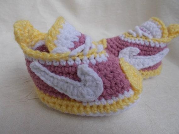 Gehaakte Babyslofjes Baby Nike Baby Haak Nike Schoenen Etsy