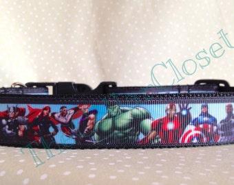 Avengers Characters Super Hero Dog Collar