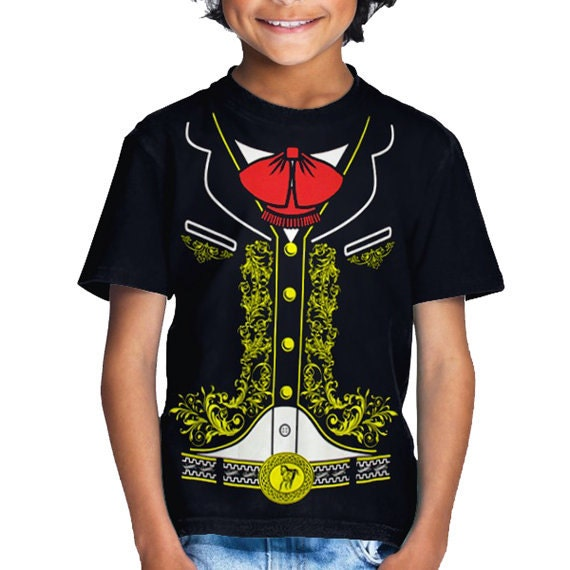 Mexican Mariachi Charro Halloween Costume Toddler//Kids Long sleeve T-Shirt