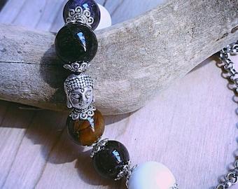 Bracciale Buddha con pietre