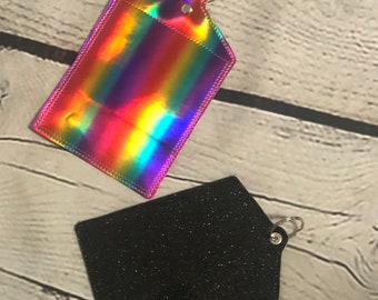Vaccine Card Holder -Choose Your Color - Swivel Clasp or Eyelet w/Split Ring- Vaccination Card Holder- CDC Card Holder- Covid 19 Card Holder