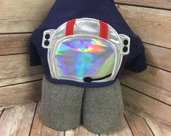 Astronaut Hooded Towel for Kids OR Adults -Custom Made to Order
