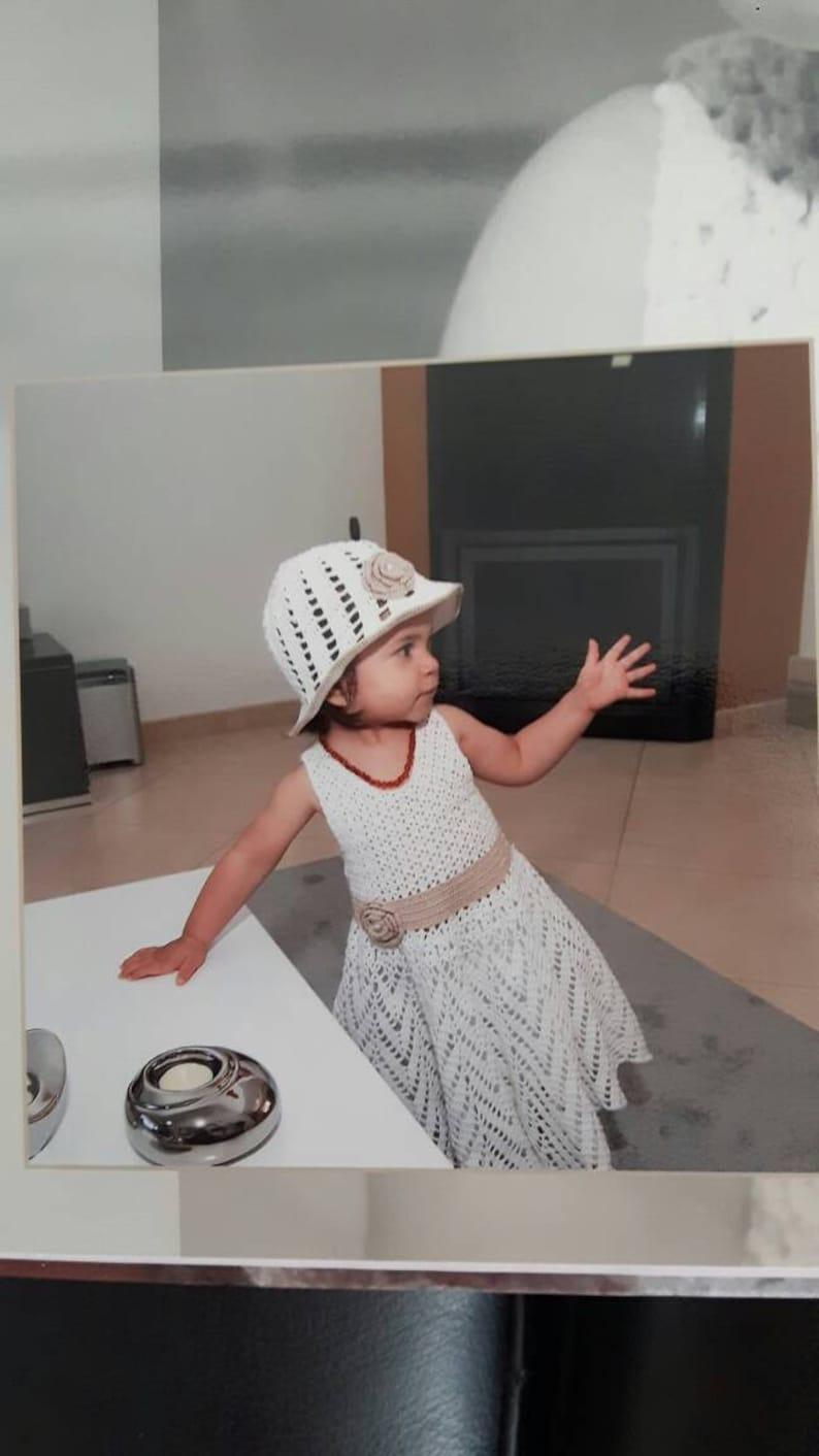 5c382db63daf9 Robe bébé fille au crochet pour baptême ou autre cérémonie