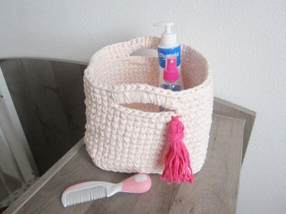 Meisje van de baby roze van kamer van de opslag van mand etsy