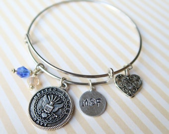 Military / Fire / Law Enforcement Personalized Bangle
