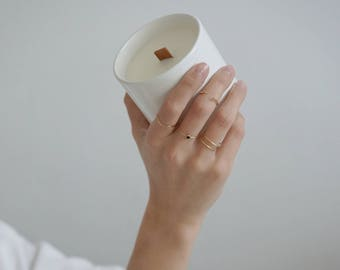 Collection Capsule - Bougie Bijoux parfumée naturelle soja en céramique - Slow made