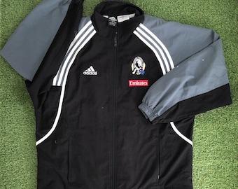 ea7067bc1 Vintage Adidas Sportswear AFL Collingwood Magpies Medium Tracksuit Jacket  Retro Australian Football Magpies Aussie Rules Streetwear Jacket