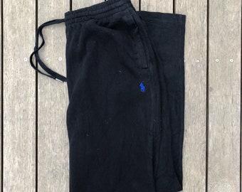 018710b4b0b6 Vintage Ralph Lauren Polo Unisex Black Large Tracksuit Pants 32W 32L Retro  Hip Hop Streetwear Ralph Lauren Sweatpants Gym Fitness Activewear