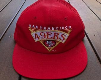 Vintage 90 s Starter NFL Team San Francisco 49ers Football Embroidered Cap  Retro Hip Hop NFL Made In USA Streetwear Sportswear Summer Cap c5c885ac4b5f