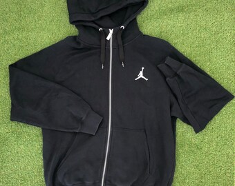 6501bc6ab993e8 Vintage 90 s Nike Jordan Jumpman Unisex Large Zip Up Hooded Sweatshirt Retro  Hip Hop Jordan Sportswear Streetwear Outerwear Hooded Jacket