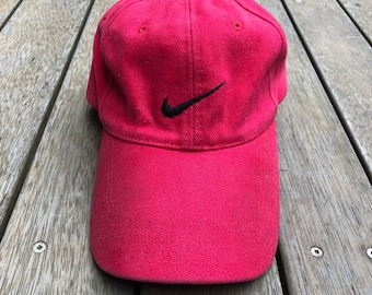 45051367318 Vintage 90 s Nike Sportswear Embroidered Swoosh Red Strap Back Cap Retro  Hip Hop Nike Streetwear Summer Festival Sports Nike Stitched Cap