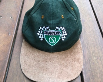 3f63fd49be66c Vintage 1998 Shannons Auctions Phillip Island Rally Embroidered Souvenir  Suede Brim Rolls Royce Cap Retro Luxury Car Rally Stitched Cap Hat