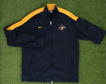 ccdabad9f2 Vintage Football Australia Nike Sportswear Unisex Large Tracksuit Jacket  Retro Hip Hop Aussie Soccer Socceroos Streetwear Nike Windbreaker