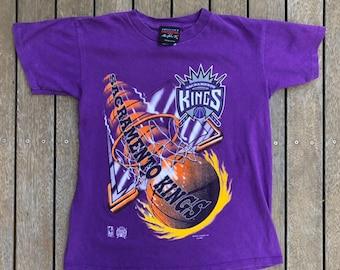 c4bf7e6f5 Vintage 90 s Sacramento Kings NBA Basketball Unisex Small Graphic T-shirt  Retro Hip Hop Streetwear Sacramento Kings Bball Summer Sportswear