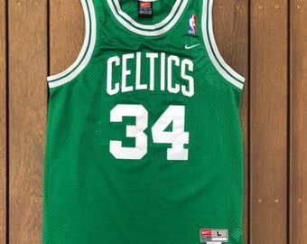 d84486298 Vintage 90 s NBA Nike Team Boston Celtics Paul Pierce Women s Large Player  Jersey Retro Hip Hop Streetwear NBA Sportswear Boston Celtics Top