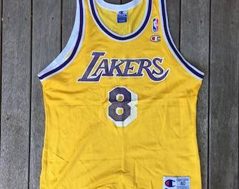 Vintage 90 s Kobe Bryant Los Angeles Lakers Champion Basketball Rookie Size  40 Unisex Jersey Retro Hip Hop LA Lakers Summer Festival Singlet b8205fcc7