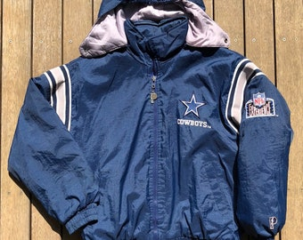 Vintage 90 s NFL Dallas Cowboys Unisex Medium Pro Player Outerwear Puffer Jacket  Retro Hip Hop NFL Streetwear American Football Cowboys Coat 034b87dd8