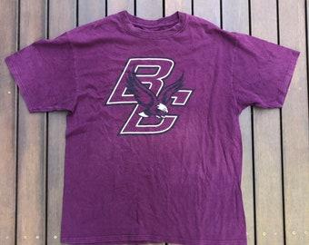 Vintage Boston College Eagles Football Unisex Large Sportswear Graphic T- shirt Retro Hip Hop Streetwear American Football Boston Sports Tee 41a3c1b36