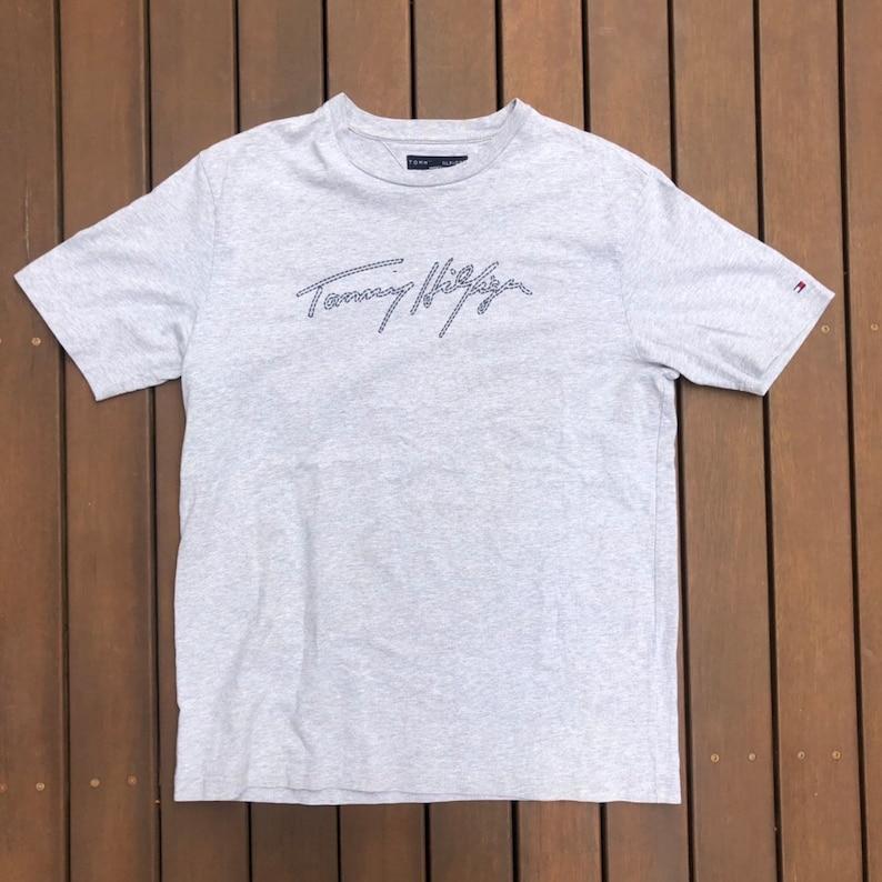 af0af1a4 Vintage Tommy Hilfiger Box Logo Unisex Medium Preppy T-shirt | Etsy