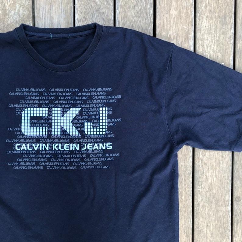 68ef2e675 Vintage 90's Calvin Klein Jeans USA Oversized Large Blue | Etsy