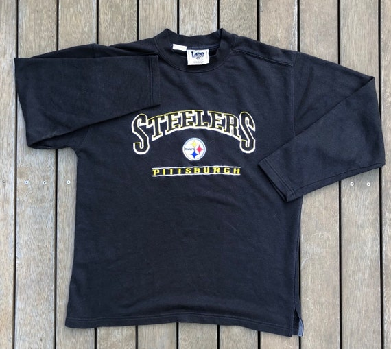 2b5c1a97f Vintage 90 s NFL Pittsburgh Steelers Stitched Logo Unisex