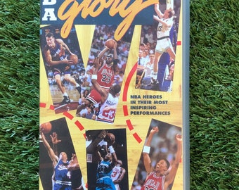 Vintage 1994 NBA Guts And Glory Basketball Video Cassette VHA Retro NBA Action Sports Highlights Collectors Display Basketball Cool Video