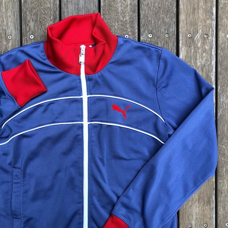 Vintage des années 90 PUMA Sportswear femmes échantillon survêtement veste taille 10 Retro hip hop PUMA streetwear Activewear survêtement Top