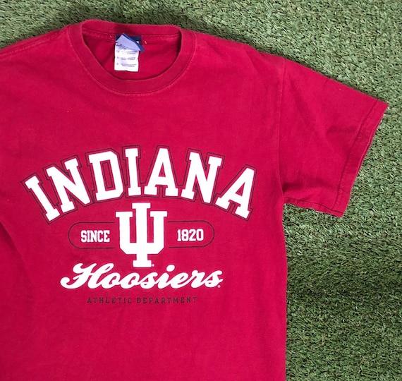 Vintage 1990s 90s Indiana Hoosiers Red College Crewneck Sweatshirt Mens Sportswear Size L Large
