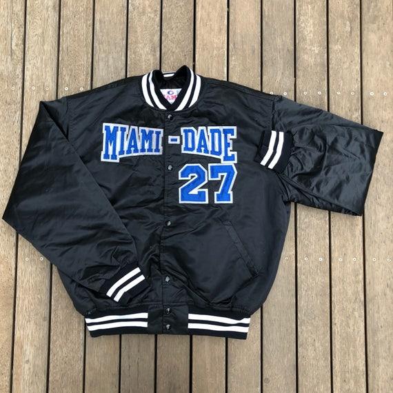 Vintage 90 s Miami Dade College Sharks Unisex XL Satin  8116d6962