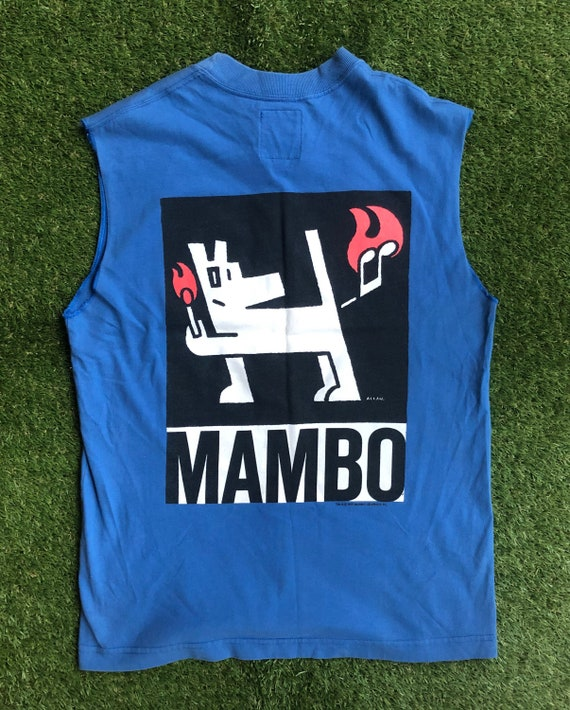 Vintage 1991 Mambo Australia Farting Dog Graphic S