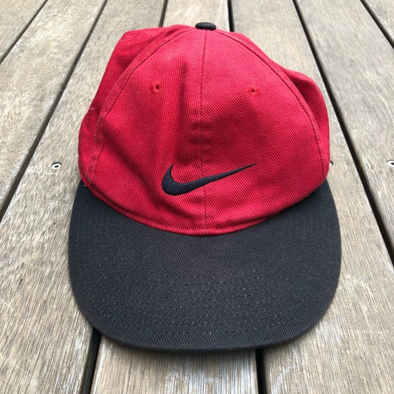 Vintage 90 s Nike Sportswear Stitched Swoosh Fitted  a6c7282cecd
