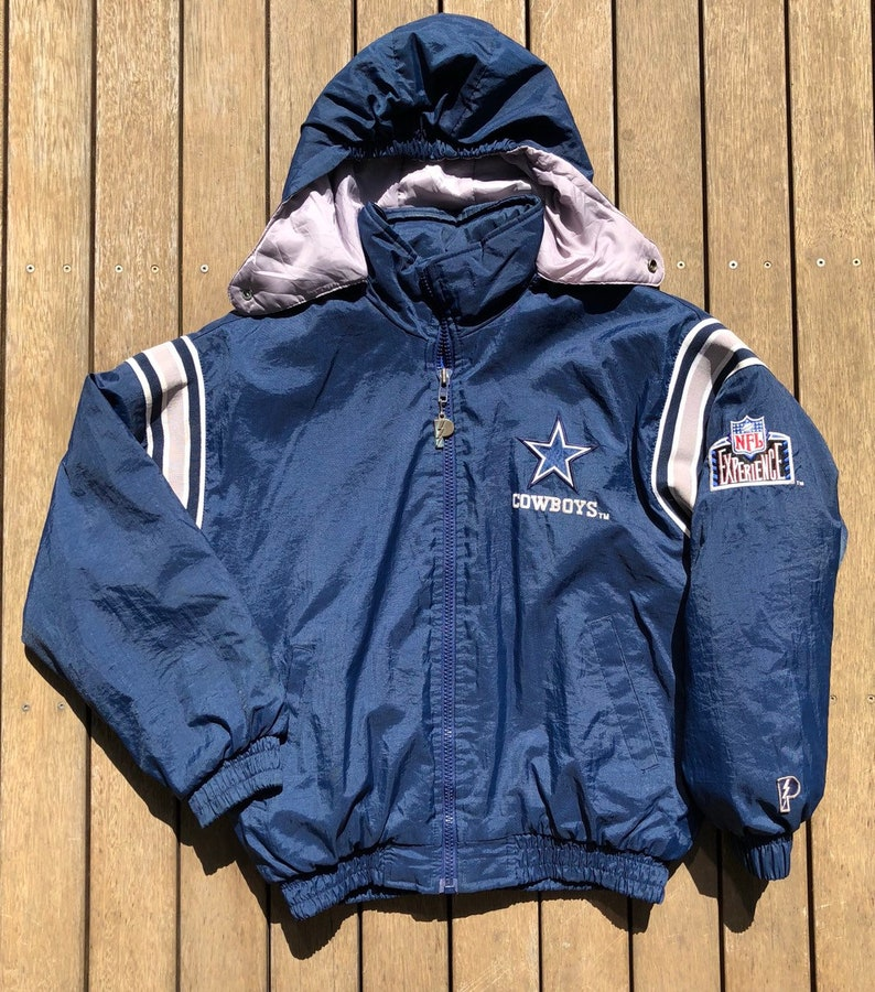 reputable site c4672 ed529 Vintage 90's NFL Dallas Cowboys Unisex Medium Pro Player Outerwear Puffer  Jacket Retro Hip Hop NFL Streetwear American Football Cowboys Coat
