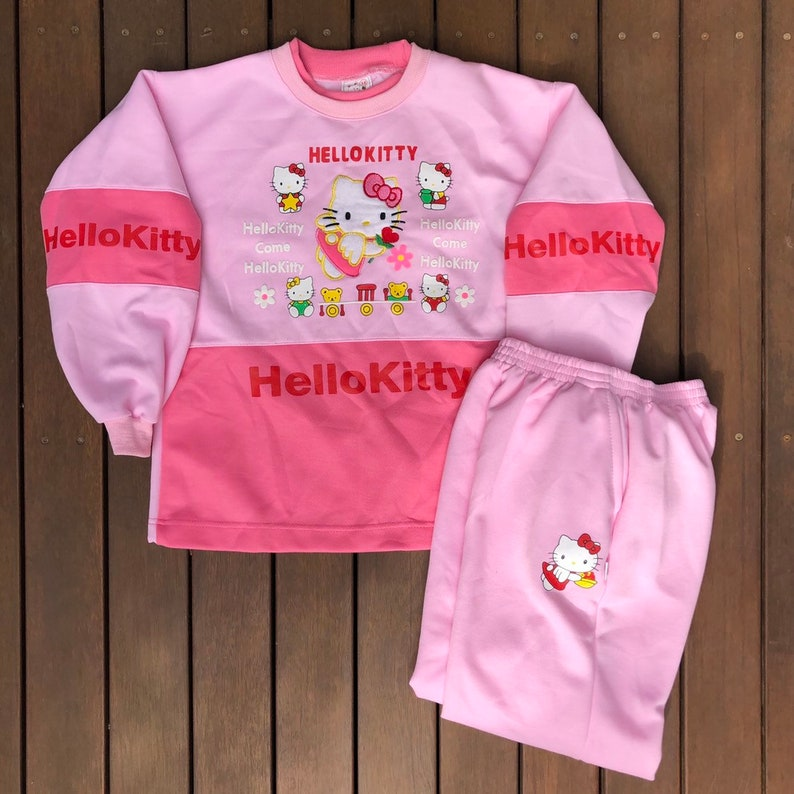 1f55c62d6 Vintage 1990's Hello Kitty Women's Sweatsuit Tracksuit | Etsy