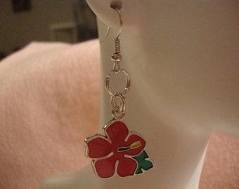 flower earrings, earrings,flower dangle earrings, dangle earrings,hook earrings, flower fashion jewelry, fashion jewelry,jewelry,flower(267)