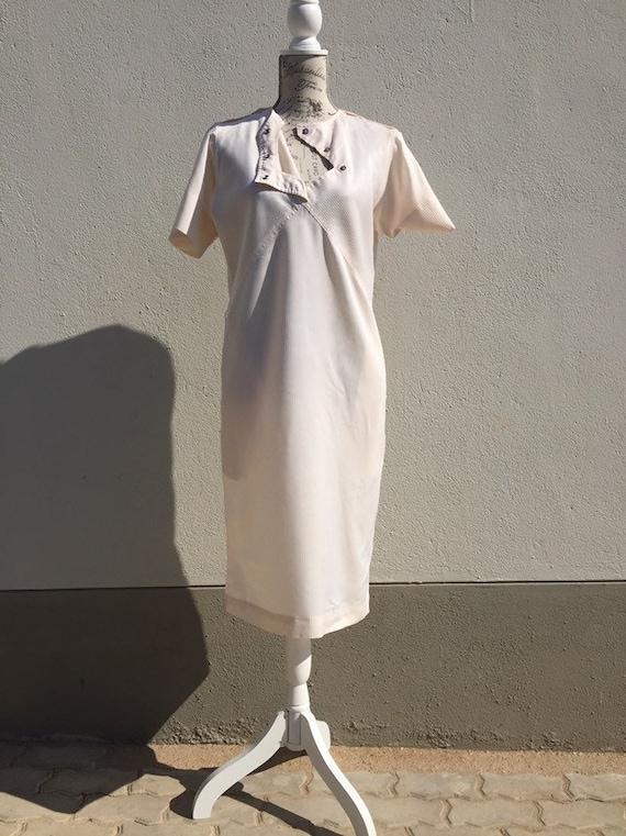 Vintage Nurse Uniform Dress Nurse Utility Dress  S
