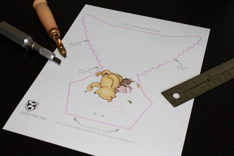 Diy Diaper Winnie The Pooh Invitation Template With Etsy