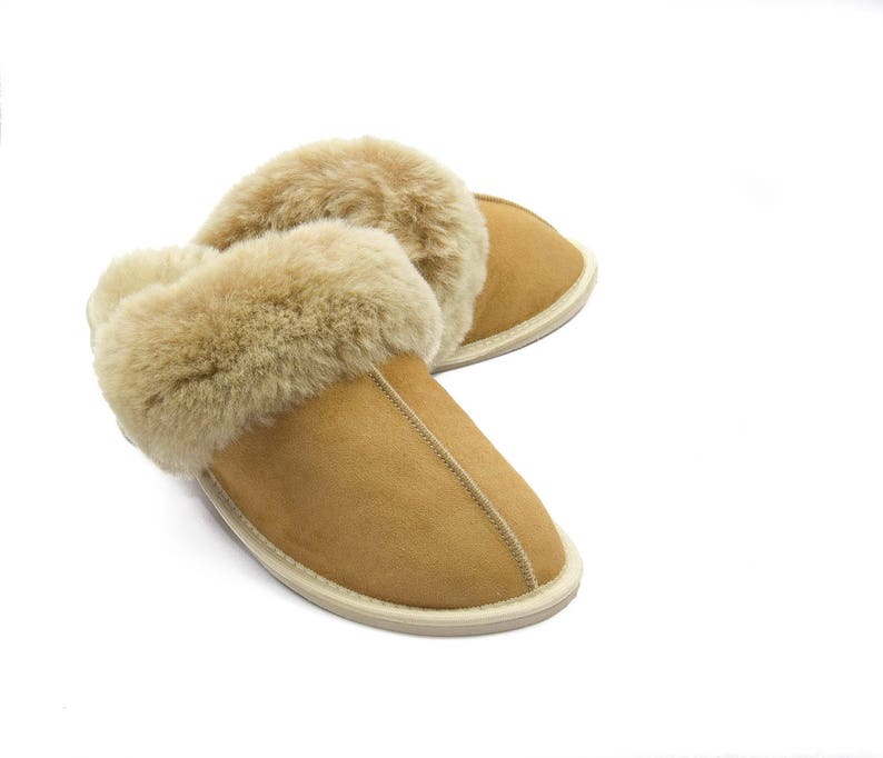 11207660f50a5 Women's Classic Sheepskin Slippers! 100% leather fur! mule, style for every  season, by people who appreciate comfy style