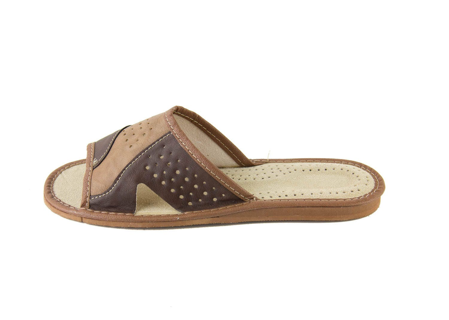 aa6609e26ea9e Mens natural leather slippers! Everyday Slippers! open toe slippers ...