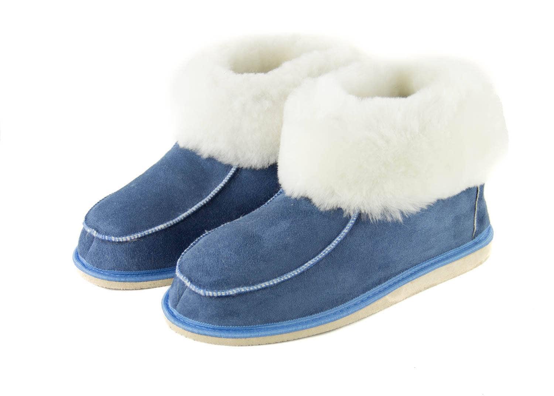 6e5a7ea437bf3 Women's dark blue Genuine Sheepskin Slippers!